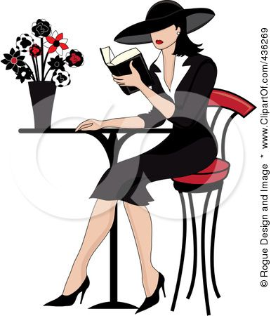 Cafe clipart reading cafe. Ok let s read