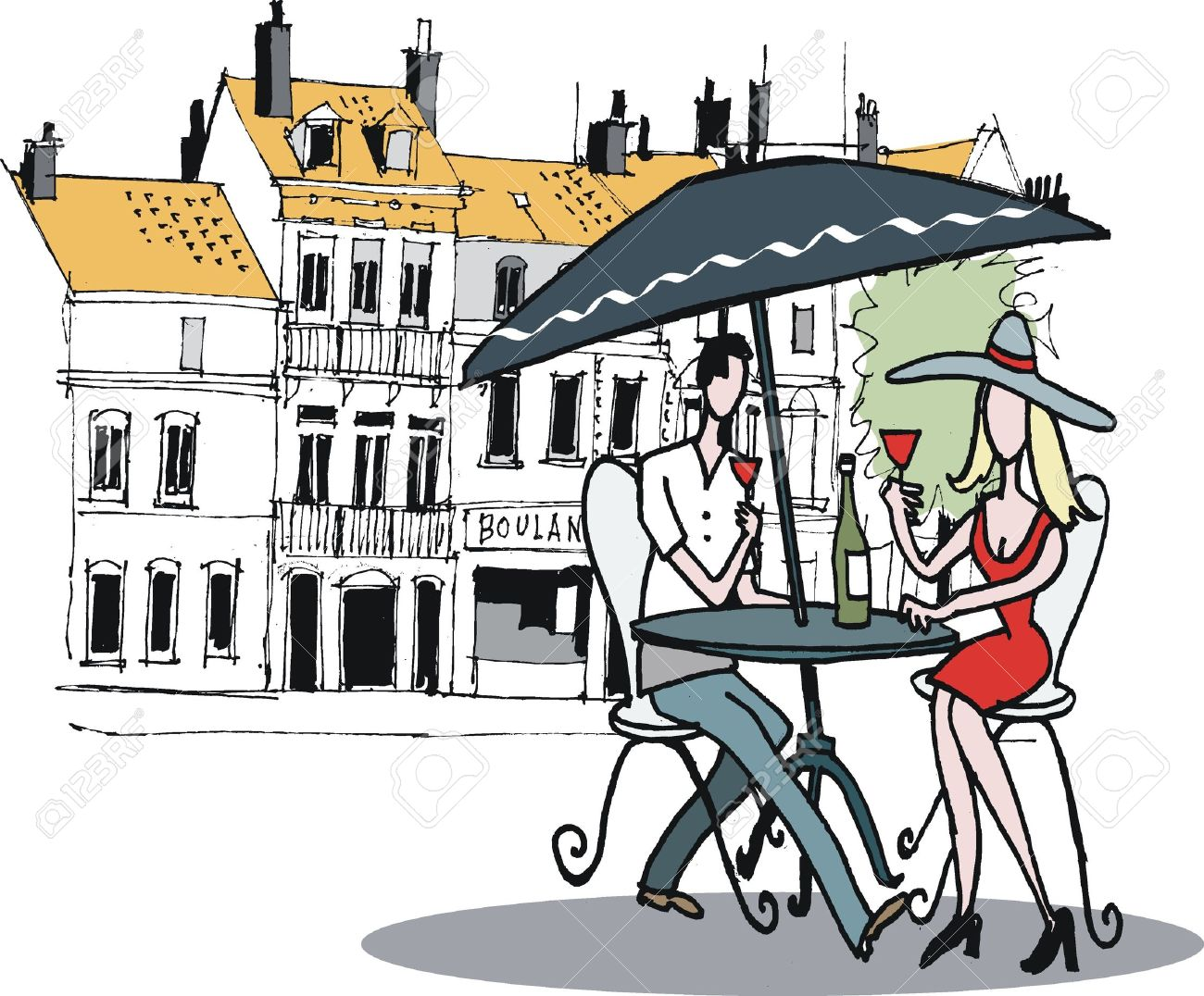 Drawing at getdrawings com. Cafe clipart restaurant french