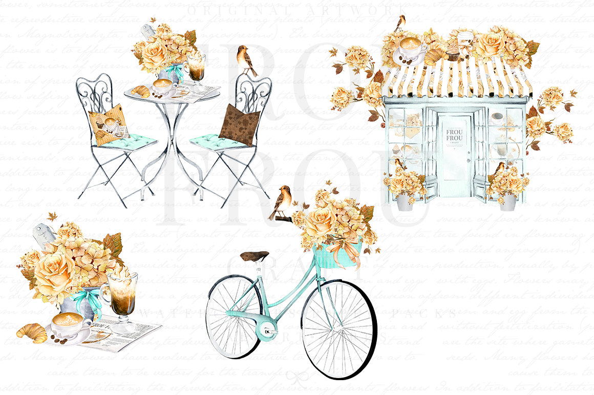 Cafe clipart restaurant french. Coffee watercolor bakery clip