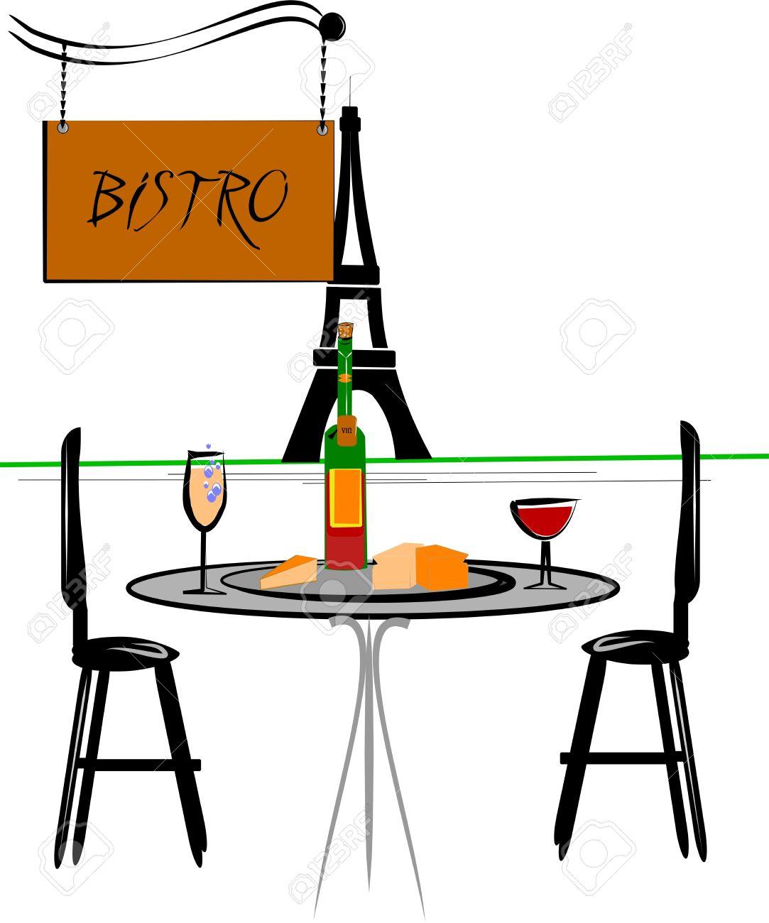 Bistro . Cafe clipart restaurant french