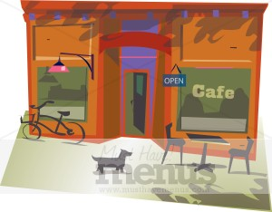. Cafe clipart storefront