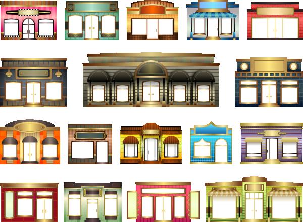 Store shop windows clip. Cafe clipart storefront