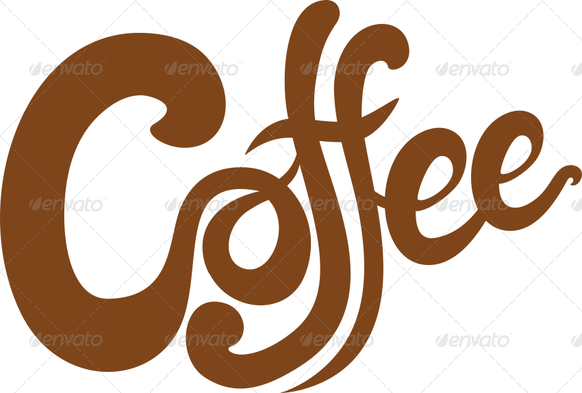 Free the word cafe. Words clipart coffee