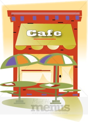 Outdoor . Cafe clipart