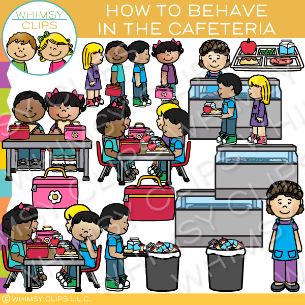 Cafeteria clipart. How to behave in