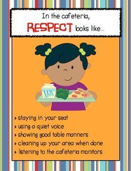 Respect looks like school. Cafeteria clipart behavior