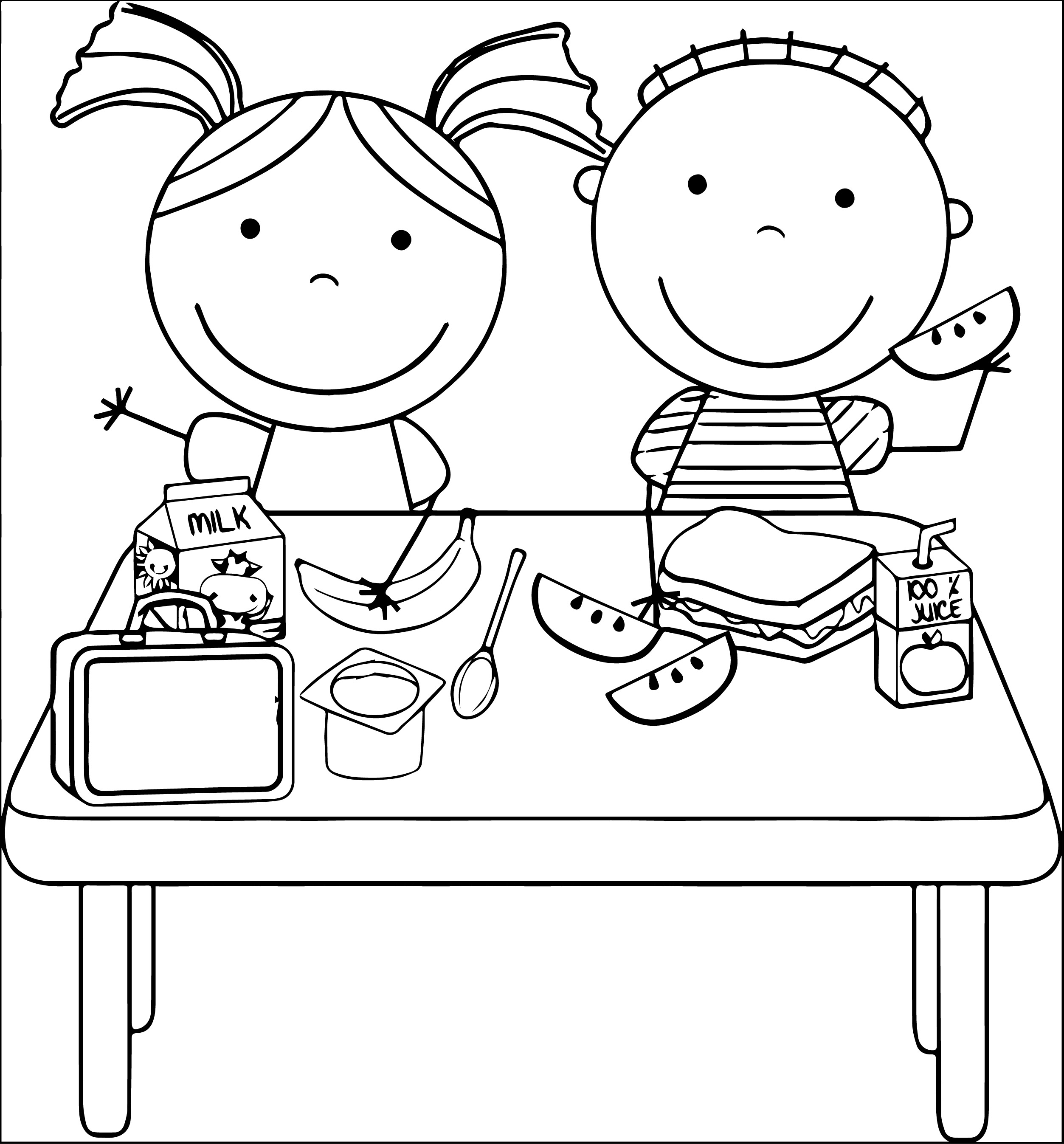 Cafeteria clipart black and white.  collection of school