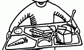 Tray letters pencil in. Cafeteria clipart black and white