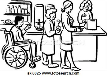 Cafeteria clipart black and white. Fotosearch search panda free