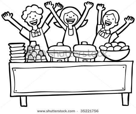 Brunch clipart food service. Buffet panda free images