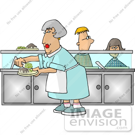 Workers . Lunch clipart cafeteria worker