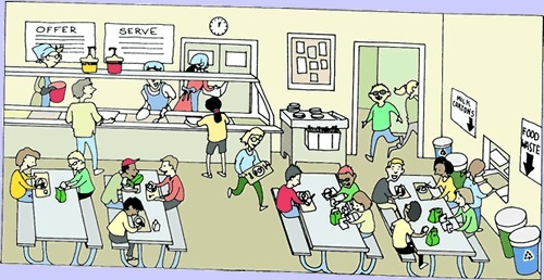 Cafeteria clipart canteen. Awesome of school black