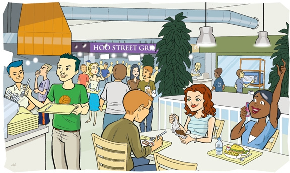 Cafeteria clipart cartoon. Embed codes for your