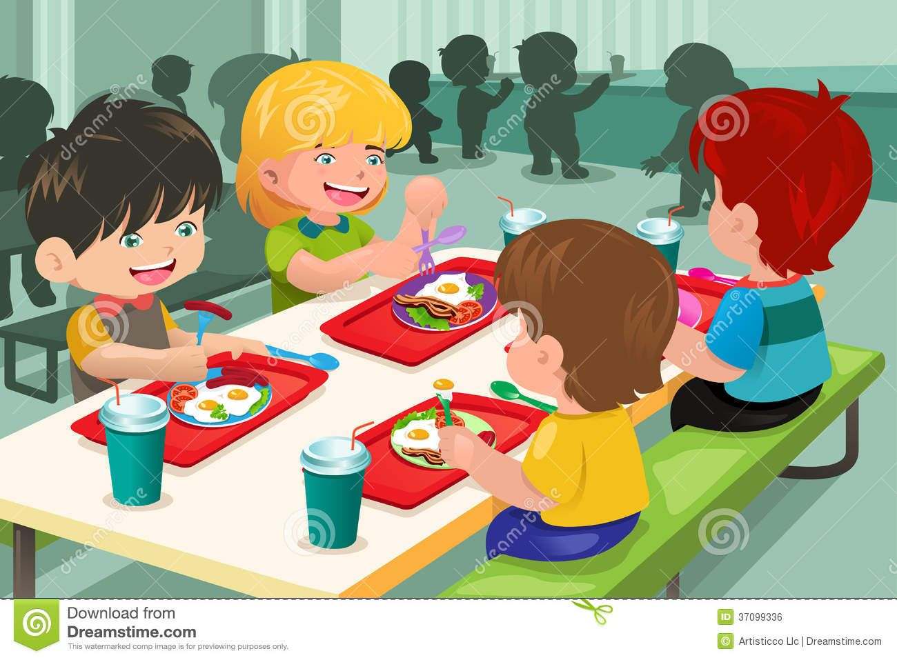 Cafeteria clipart cartoon. Image result for school