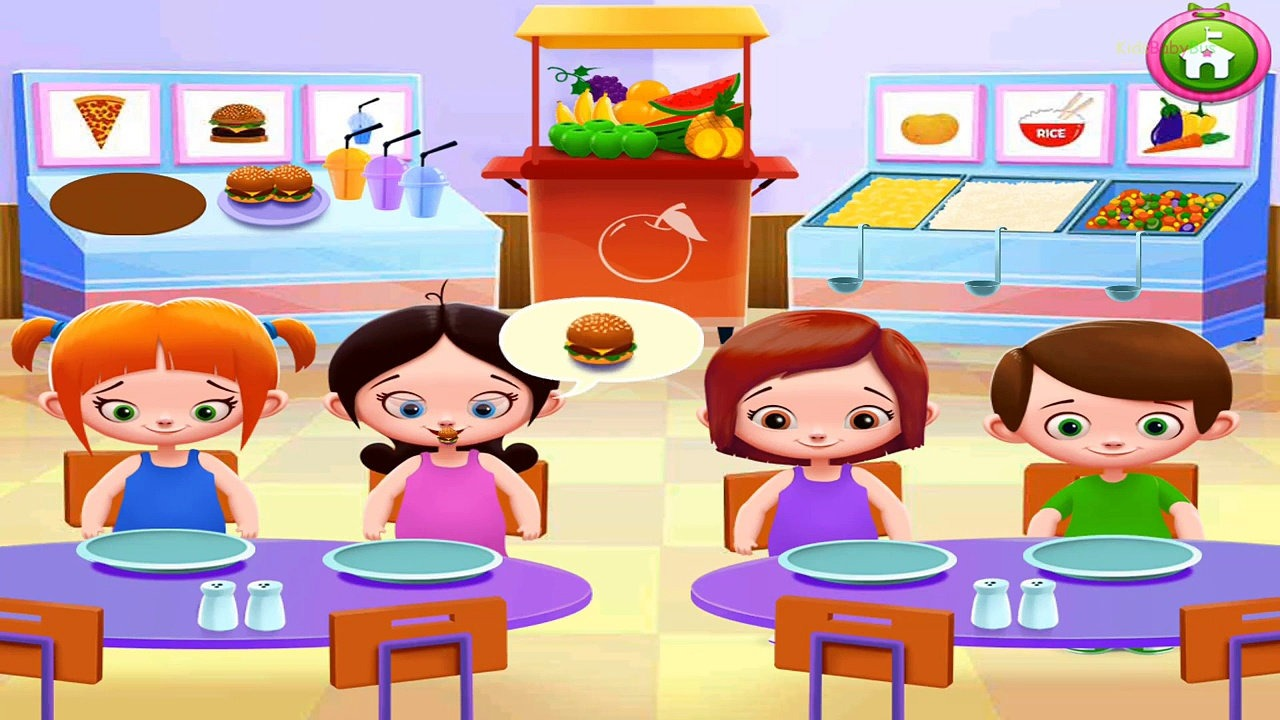 Cool school playing in. Cafeteria clipart child