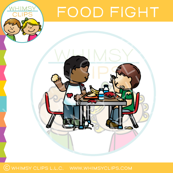 Food clip art images. Fight clipart school fight