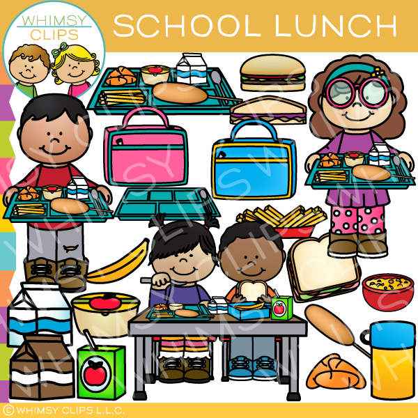 Lunch clipart school lunch. Kids eating at clip