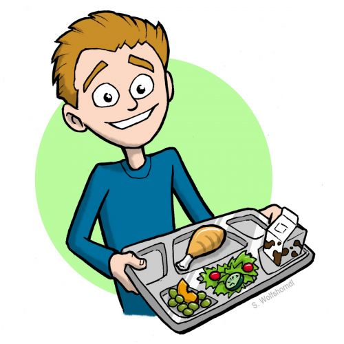 Cafeteria clipart food server. Clip art for students