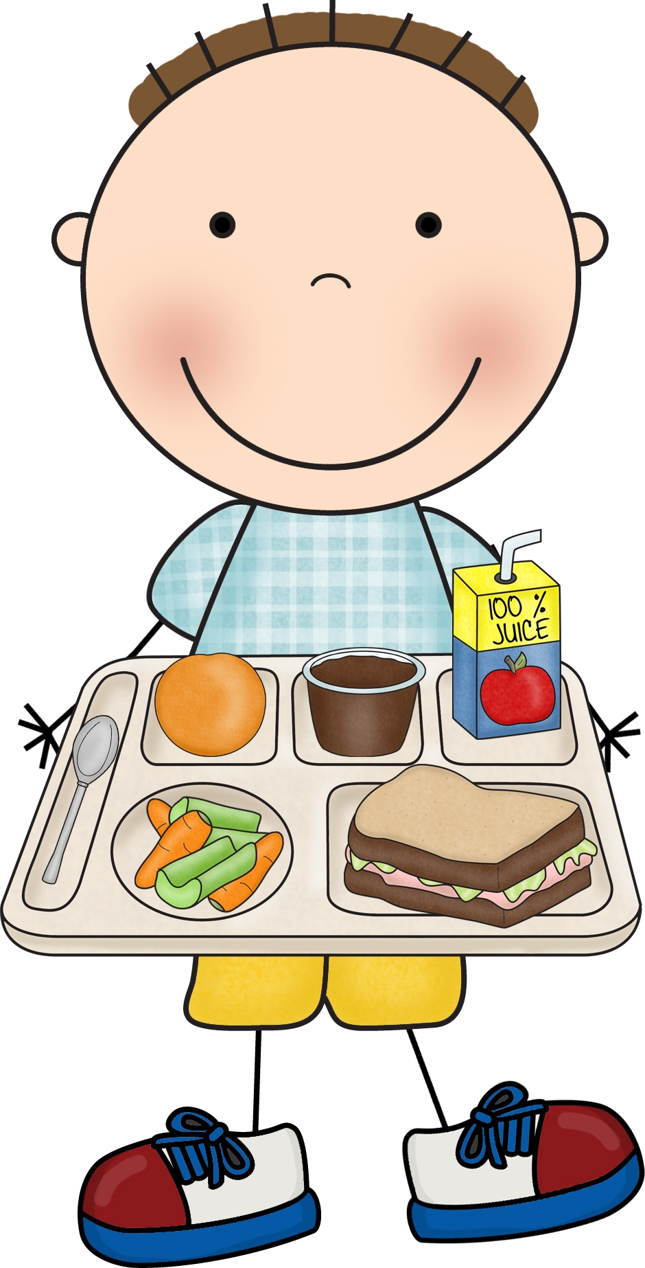 Cafeteria kid lunch canteen. Luncheon clipart student