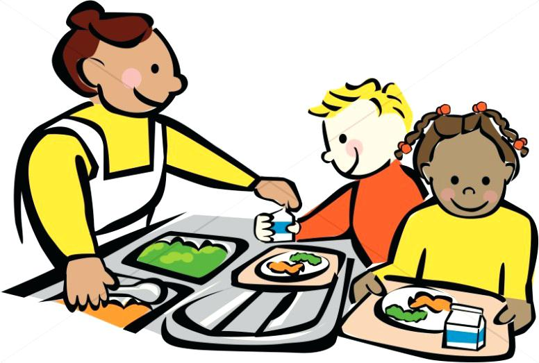Cafeteria clipart school cafeteria. Lunch table clip art