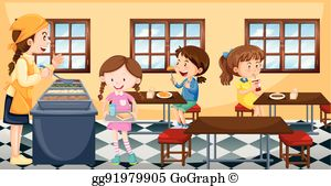 School cafeteria clip art. Clipart lunch hall
