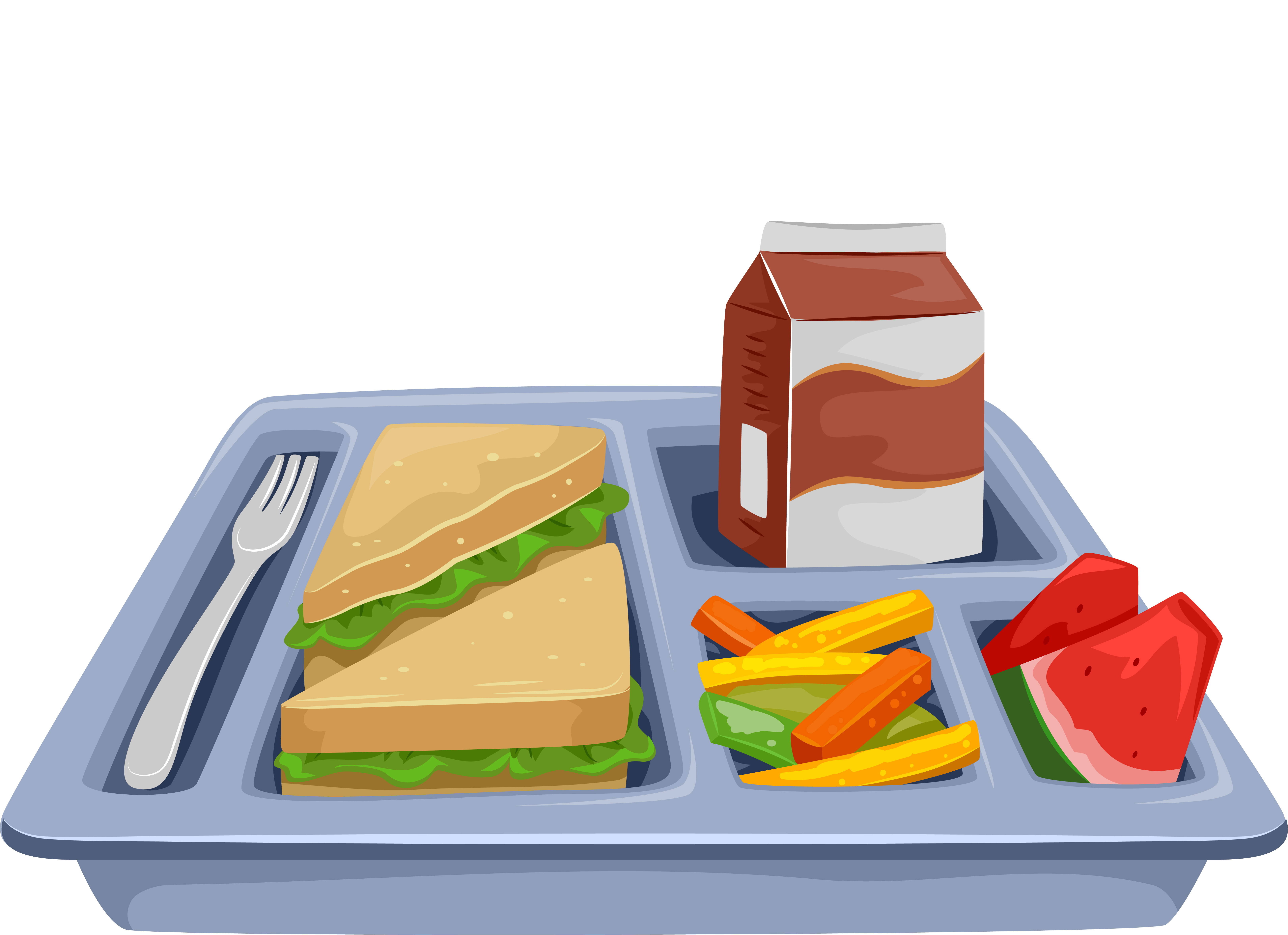 Cafeteria clipart school lunch tray. December form our lady