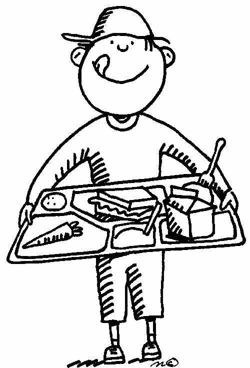 Cafeteria clipart school lunch tray. Black and white letters
