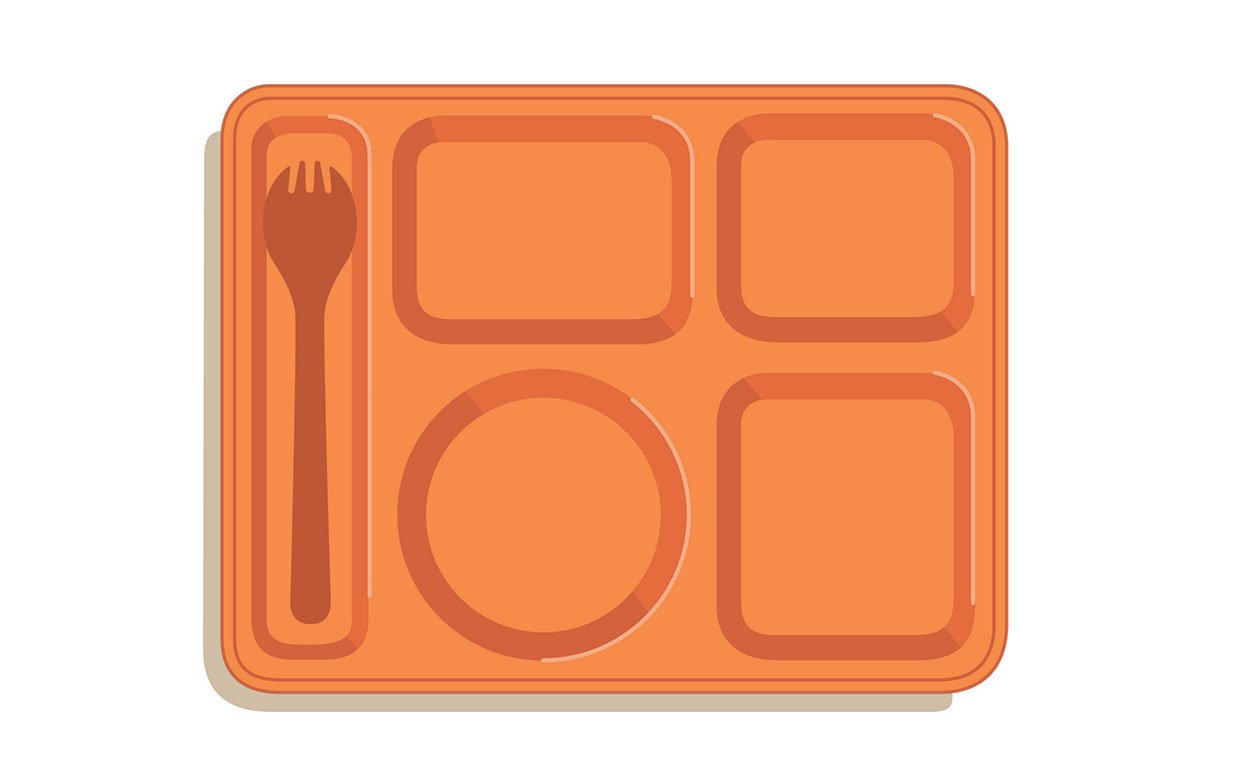 Upgrade meals then and. Cafeteria clipart school lunch tray