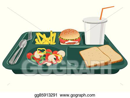 Vector art a with. Cafeteria clipart school lunch tray