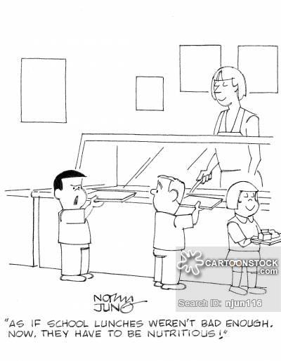 School cartoons and comics. Cafeteria clipart student cafeteria