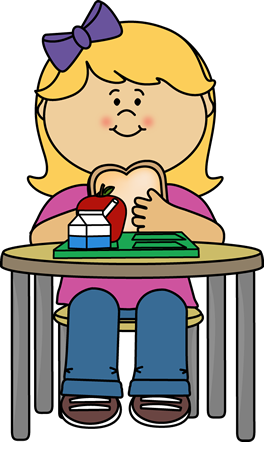 Girl eating lunch crafts. Cafeteria clipart transparent