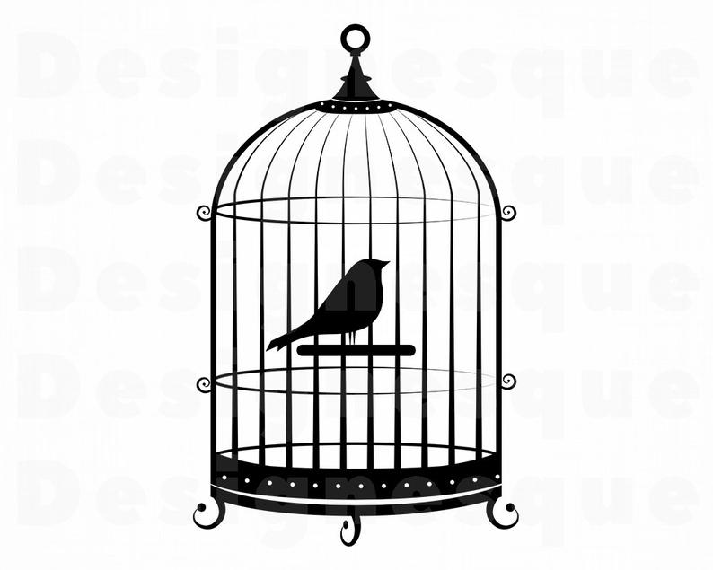 Cage clipart. Bird svg files for