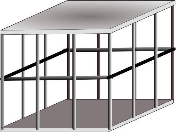 Cage clipart. Metal clip art free