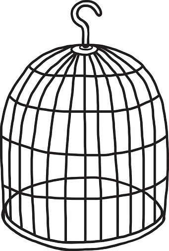 Free empty birdcage cliparts. Cage clipart