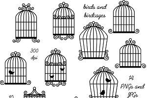 Cage clipart bird's. Bird photos graphics fonts