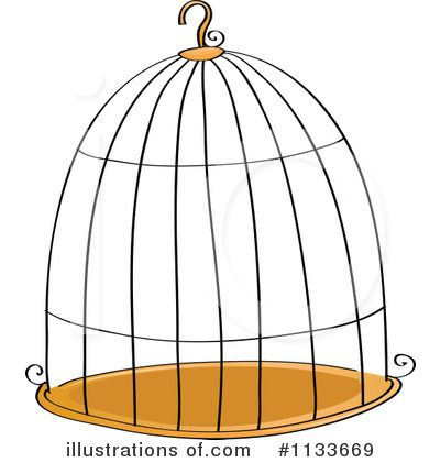 Bird illustration by graphics. Cage clipart bird's
