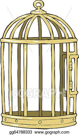 Cage clipart bird's. Vector stock bird illustration