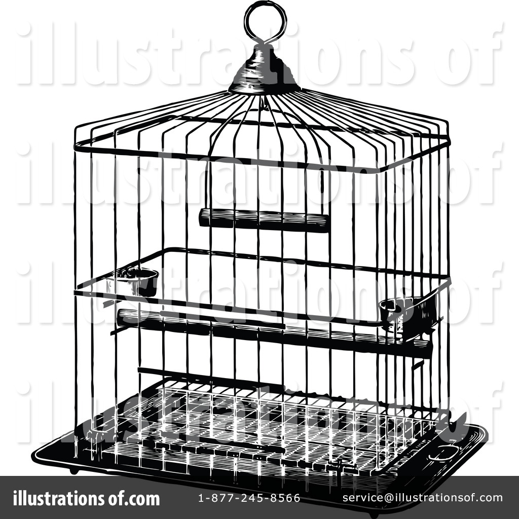 collection of zoo. Cage clipart black and white