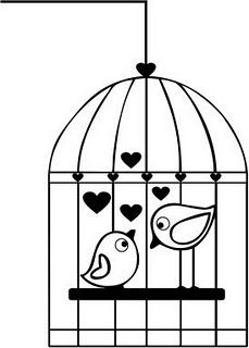 Station . Cage clipart black and white