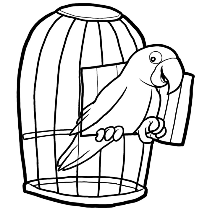 Station. Cage clipart black and white