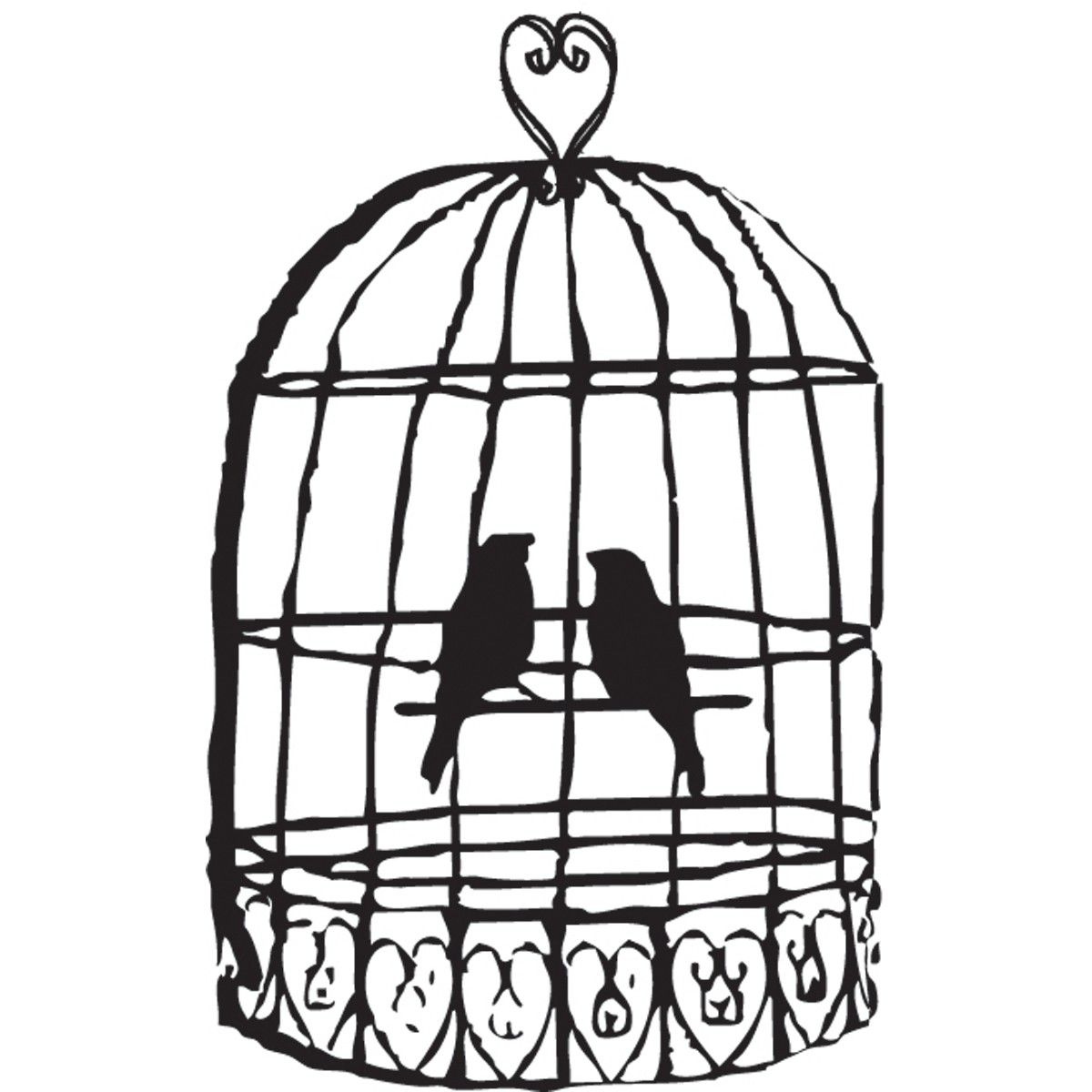 Cage clipart black and white. Birdcage bird clip art