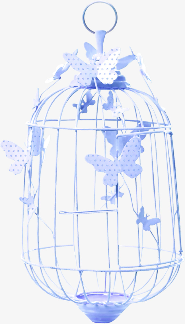 Cage clipart butterfly. Blue bird decorative pattern