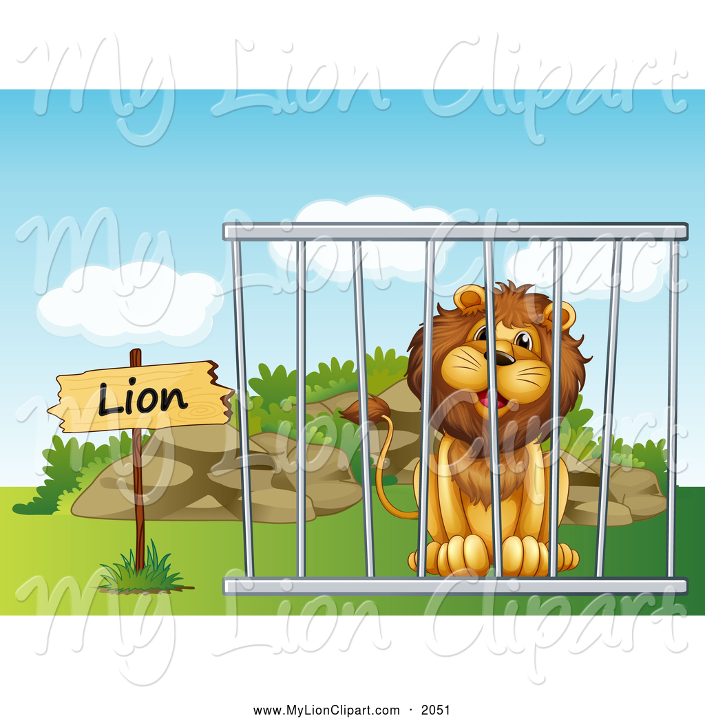 Cage clipart cartoon. Of a smiling male
