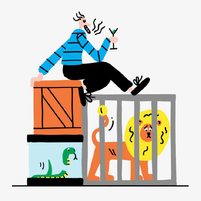 Cage clipart cartoon. Lion green snake png