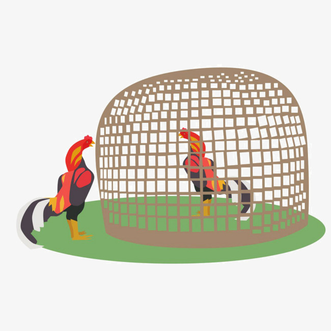 Cage clipart chicken. Cartoon in the png
