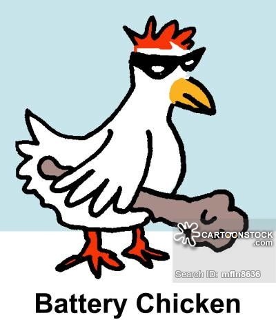 Battery cartoons and comics. Cage clipart chicken