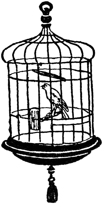 Cage clipart clear background. Free vintage digital stamps