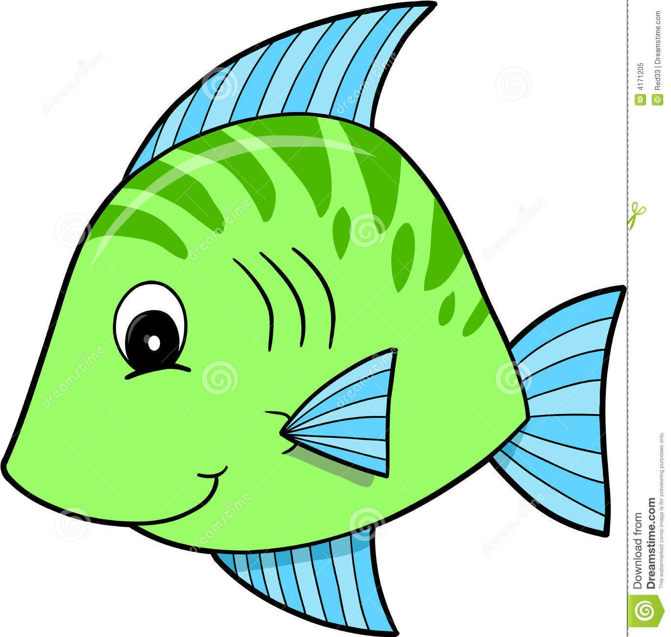 Fishing clipart fishing competition. Cute green fish vector