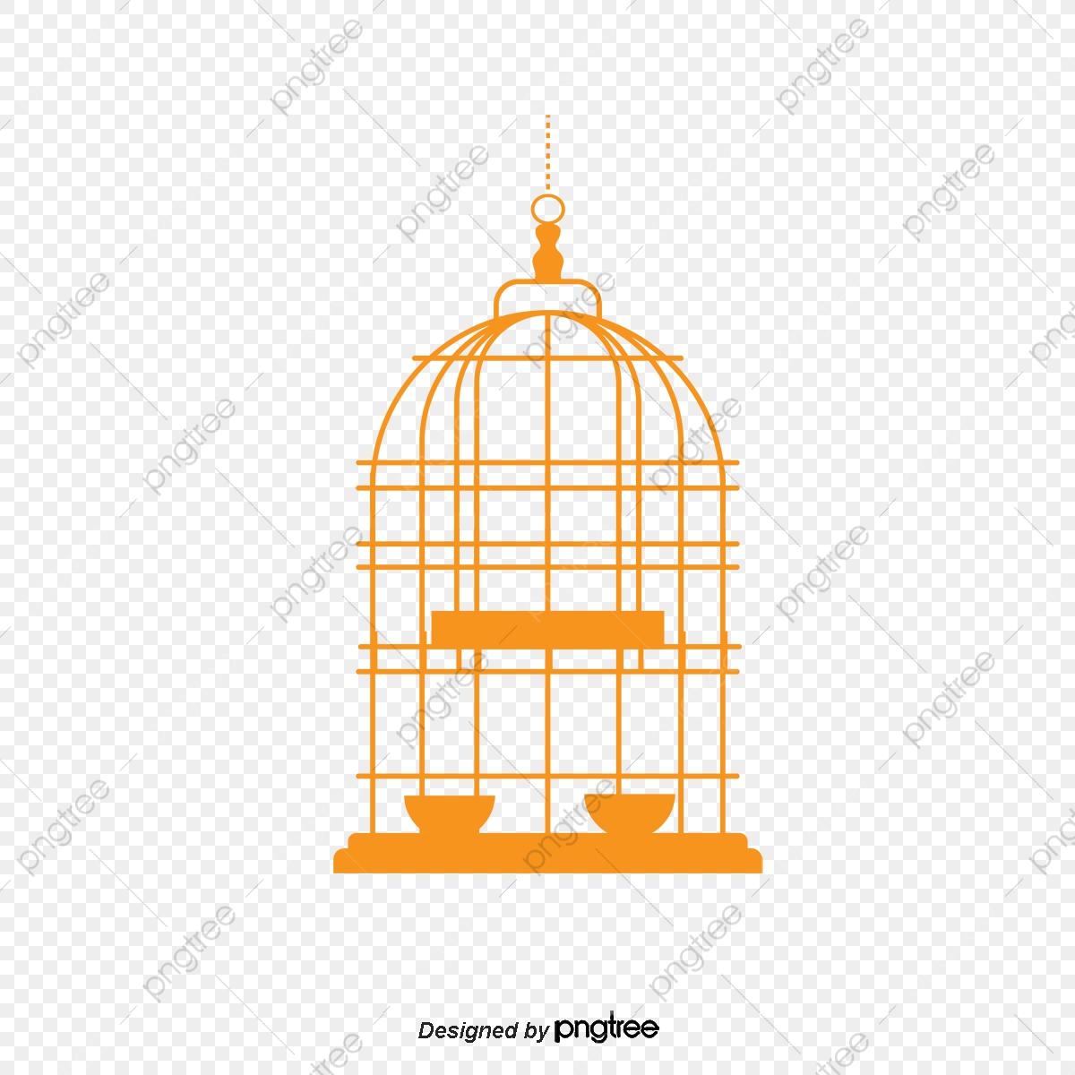 Hanging iron png transparent. Cage clipart golden bird
