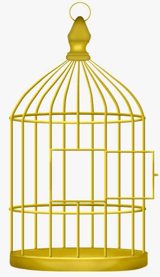 Cage clipart golden bird. Birdcage creative material png